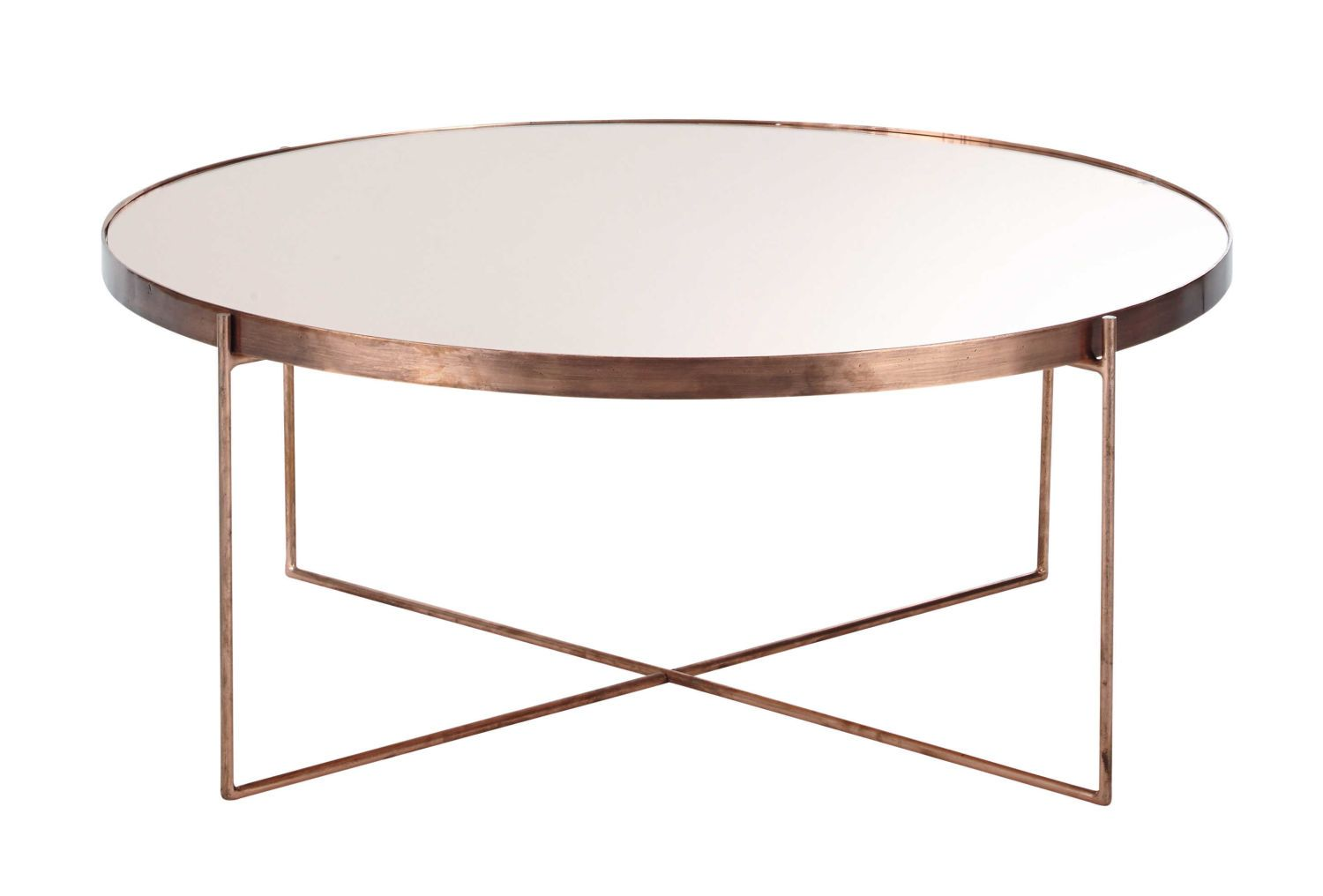 Copper Plated Metal Mirror Round Coffee Table Maisons Du Monde Coffee Table Round Coffee Table Table [ 1016 x 1500 Pixel ]