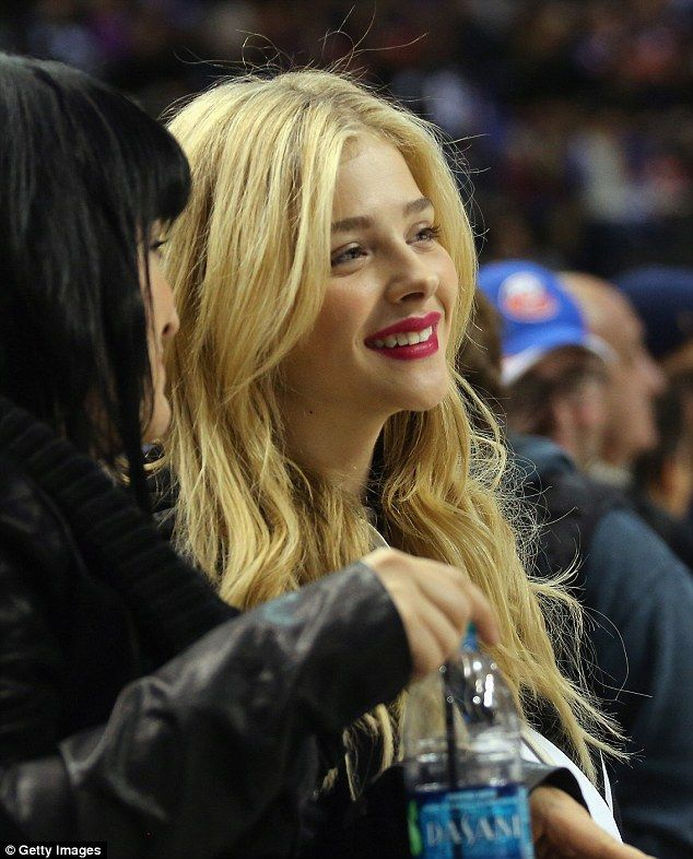 Blonde beauty: Chloë Grace Moretz showed off her love of sport as she watched the San Jose...