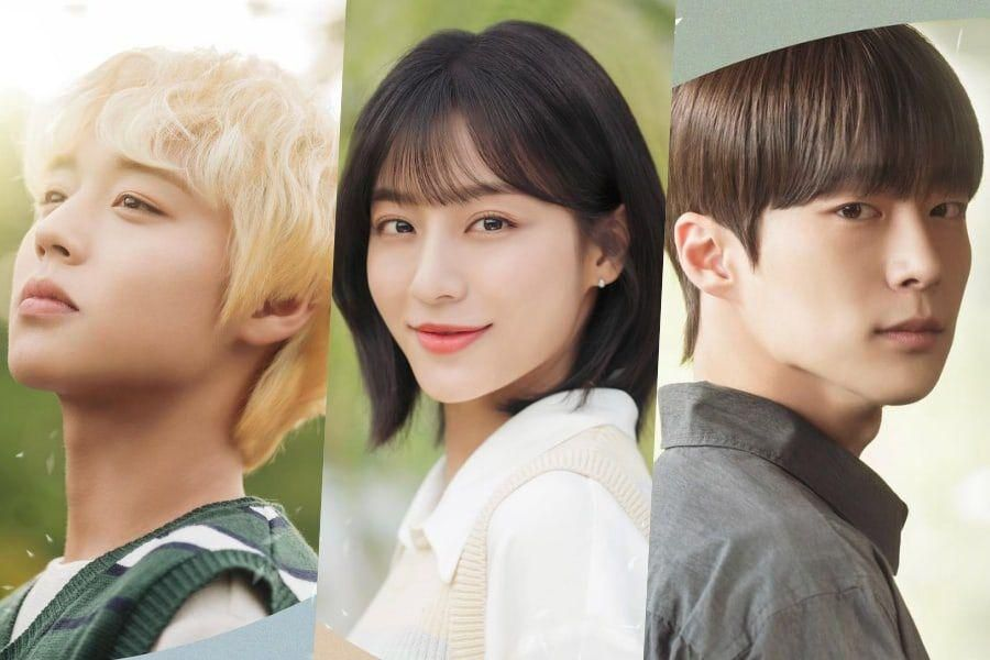 """Park Ji Hoon, Kang Min Ah, And Bae In Hyuk Prepare To Face Reality In """"At A Distance Spring Is Green"""" Posters"""