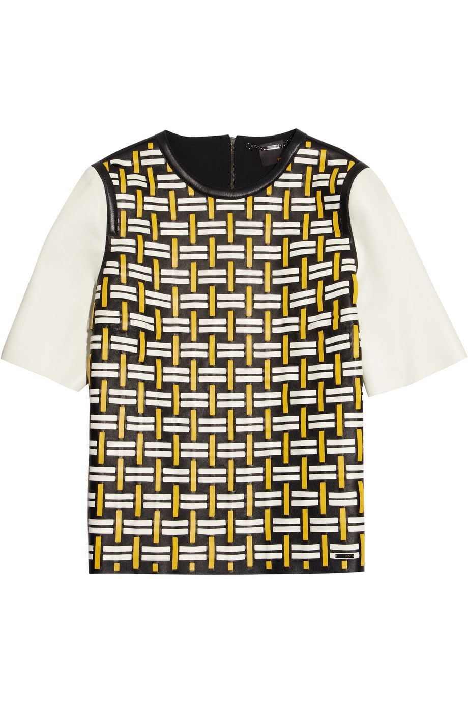 Fendi | Woven leather top | NET-A-PORTER.COM