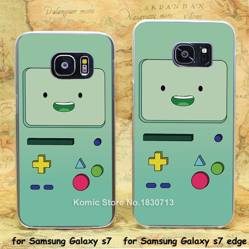 BMO for Adventure Time transparent clear hard case cover for Samsung Galaxy s7 s7 edge
