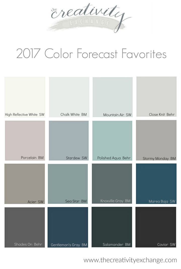 2017 Paint Color Forecasts And Trends Space Painting