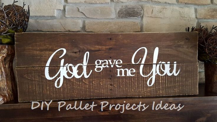 New Great DIY Ideas For Pallet Signs #palletfurniture # ...