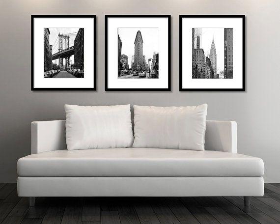 New York Print Set, Black and White Photography, Set of 3 Prints ...