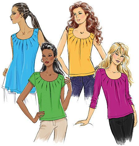 UNCUT Misses' Blouse Sewing Pattern 5354 Butterick  by SewPatterns