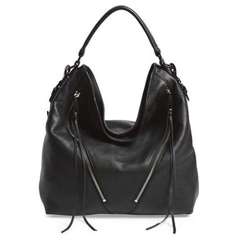 325 New Authentic Rebecca Minkoff Moto Hobo Bag Black Leather