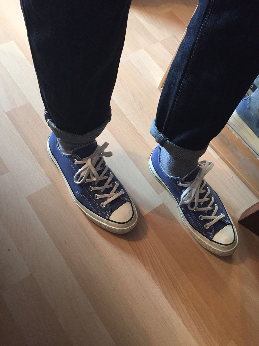 becedfe40c2f Japanese Selvedge denim with Converse All Star 70 s Ox