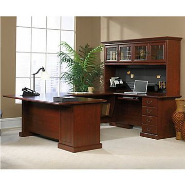 Heritage Hill Executive U Desk   OFG UD1037 Home Office Furniture   Classy