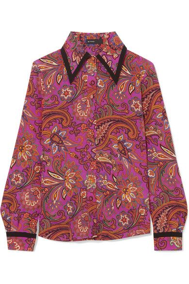 8edeaf692cb273 Etro - Printed silk shirt in 2019 | Obsession | Shirts, Silk, Mens tops