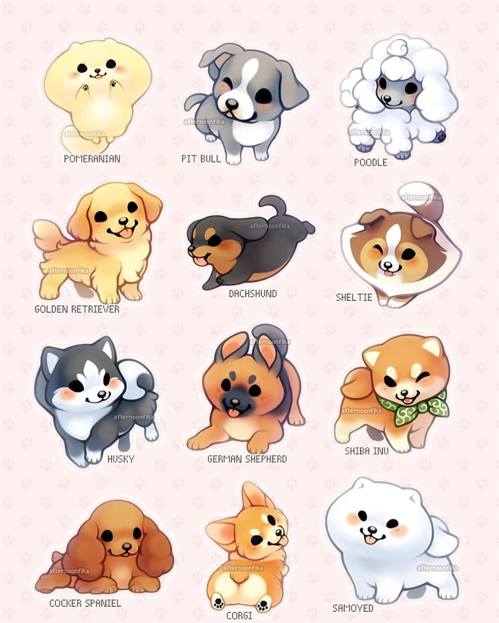 Cute dog drawings - photo#41
