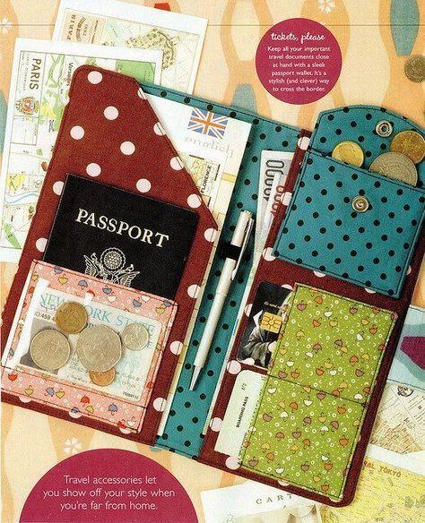 Glassbeach Passport Wallet - Free PDF and Instructions