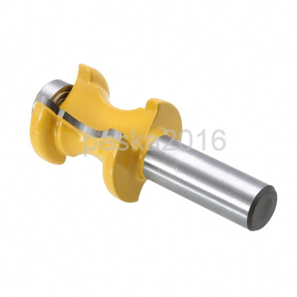 """1//2/"""" Shank Bullnose with Bead Column Face Molding Router Bit Woodworking Tool"""