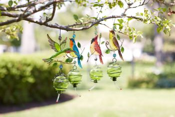Hummingbird feeders in butterfly or bird design - Butterfly and hummingbird garden designs ...