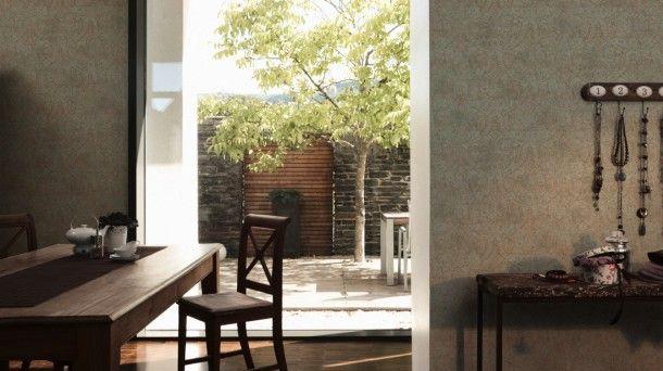 Vliestapete Barock braun grün AS Creation 9456-48 Barock Tapeten - wohnzimmer braun beige grun