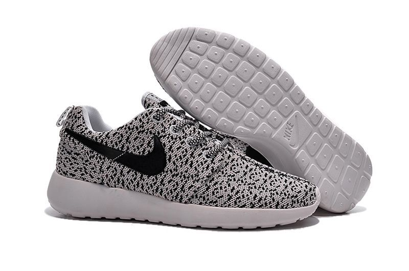 Nike Roshe One x Yeezy Grey Black Ultralight Shoes For Women Discount