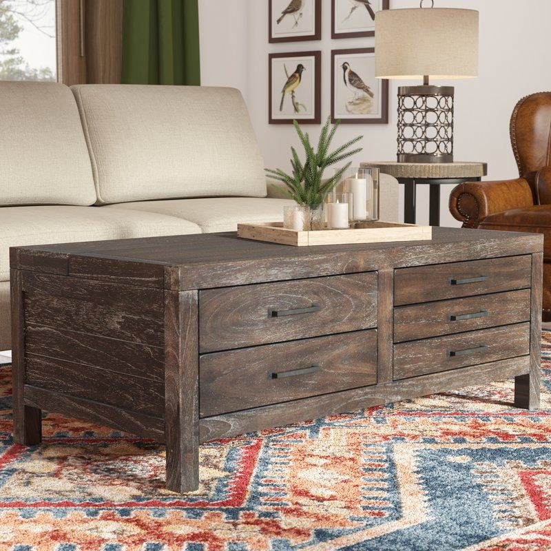 Portville Lift Top Coffee Table Rustic Coffee Table In 2019
