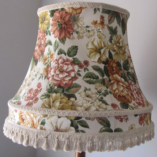 Vintage Floral Lampshade For Standard Lamp Www Thelampshadeloft Co Uk Floral Lampshade Vintage Lampshades