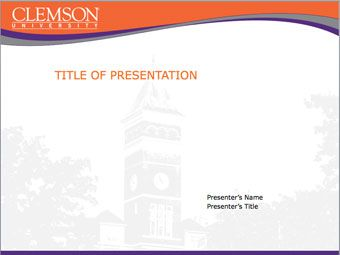 tillman hall, clemson university powerpoint template (ppt, Modern powerpoint