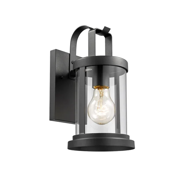 Chloe 1 Light Textured Black Outdoor Wall Sconce In 2020 Outdoor