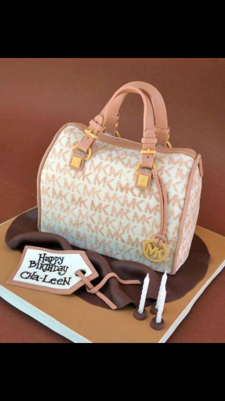 MICHAEL KORS PURSE CAKE IDEAS | Michael Kors handbag cake by