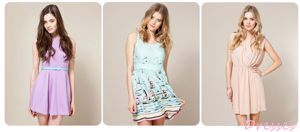 Wednesday Wishlist : Pretty Pastel Dresses