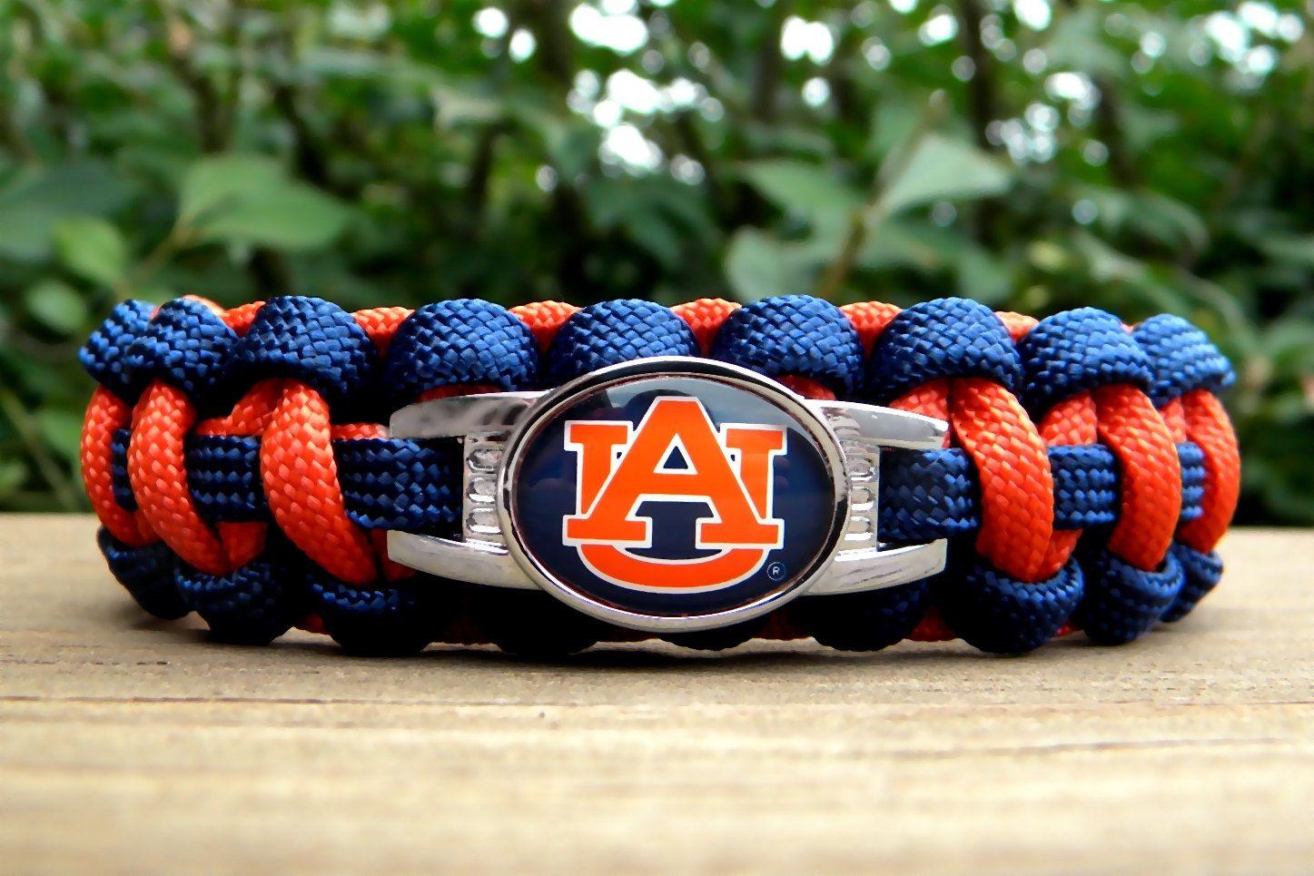 Custom Handmade Auburn University Team Paracord Bracelet Arin