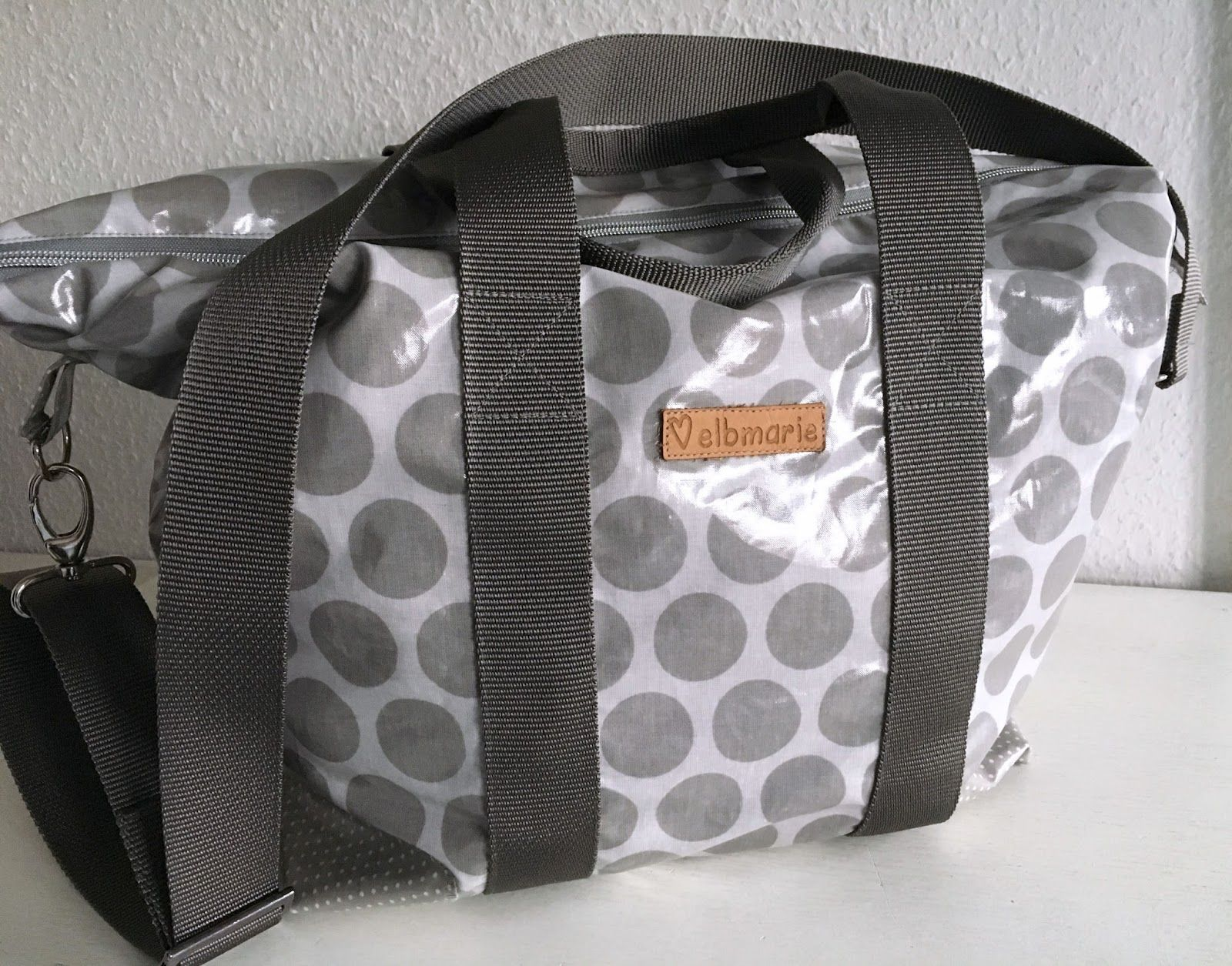 overnightbag sewn in oilcloth - for beginners Übernachtungstasche ...