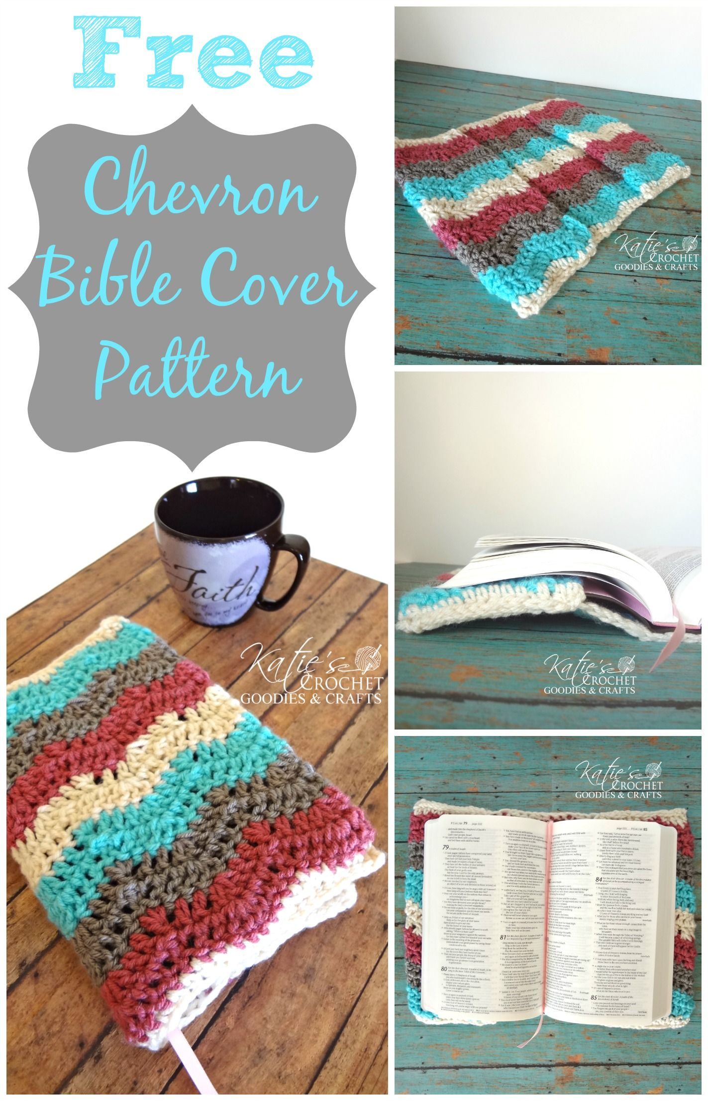 Free Crochet Pattern: Bible Cover or Case | Bible covers, Bible and ...