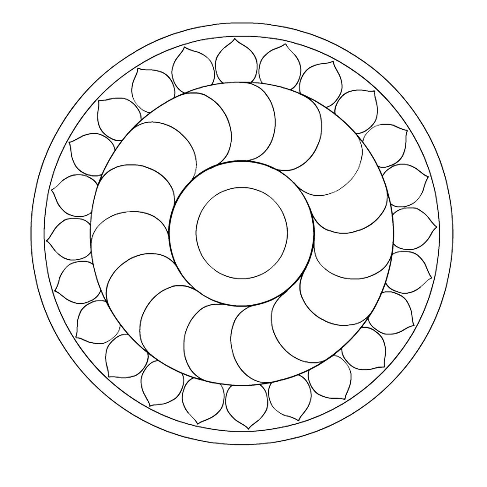 simple mandala coloring pages printable free printable mandalas - Simple Mandala Coloring Pages Kid