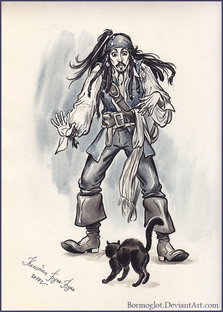 Арты пиратов карандашом