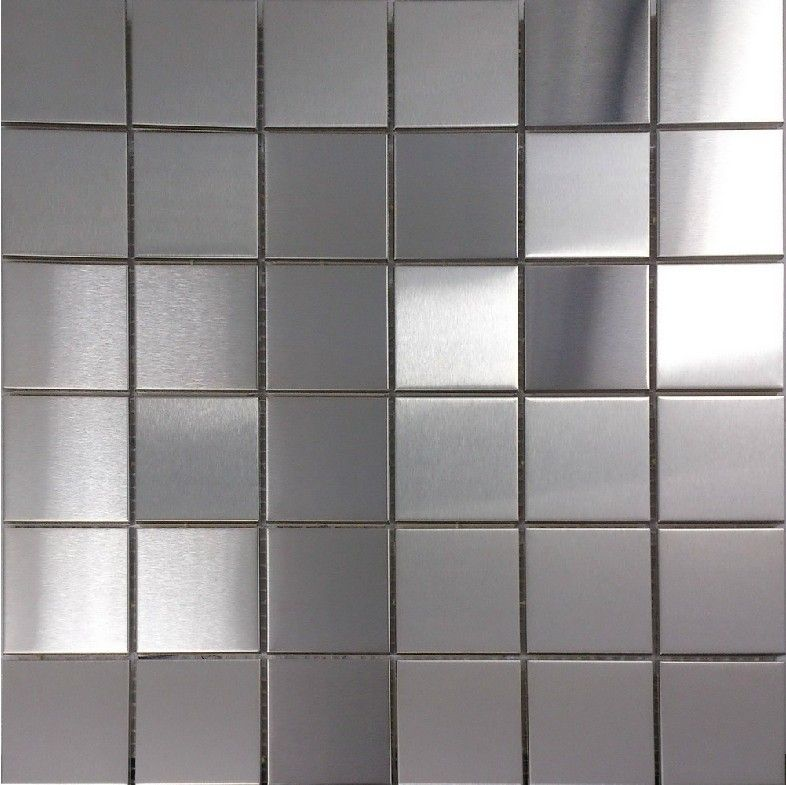 Silver Kitchen Wall Tiles: Brush Silver Metallic Mosaic Wall Tiles Backsplash SMMT030