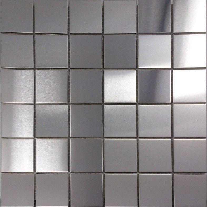Best Brush Silver Metallic Mosaic Wall Tiles Backsplash Smmt030 400 x 300
