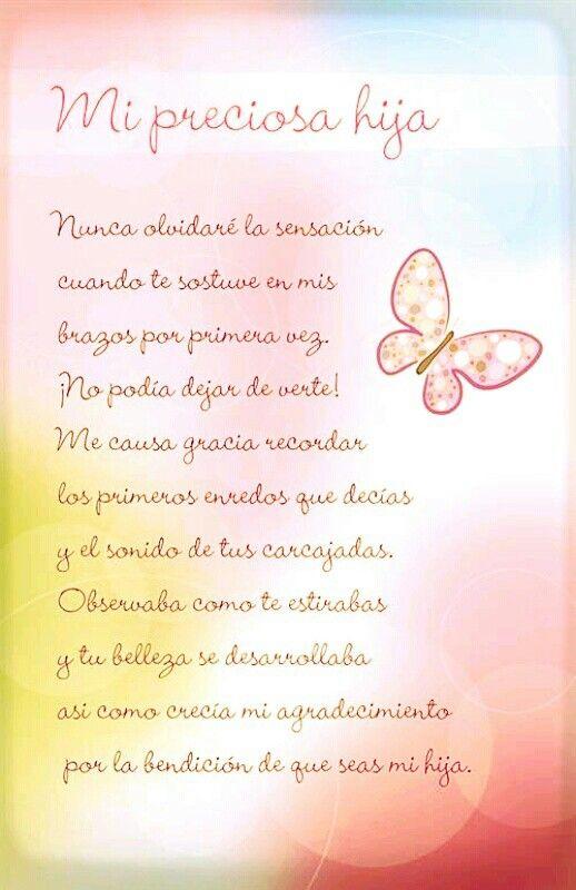 Para Mi Hija Frases Amor Familia Www Familias Com Cursivo