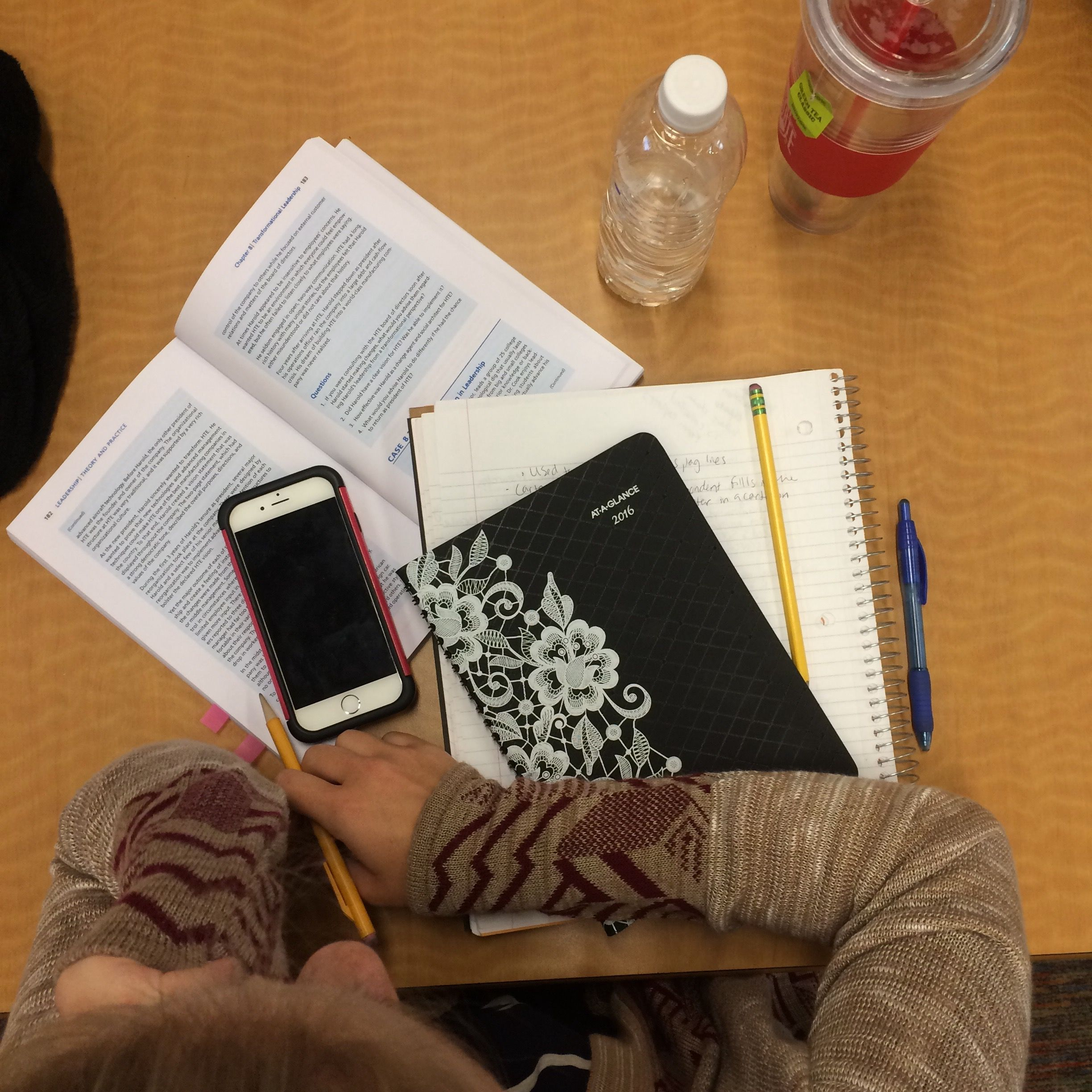 there should always be a planner during a study session