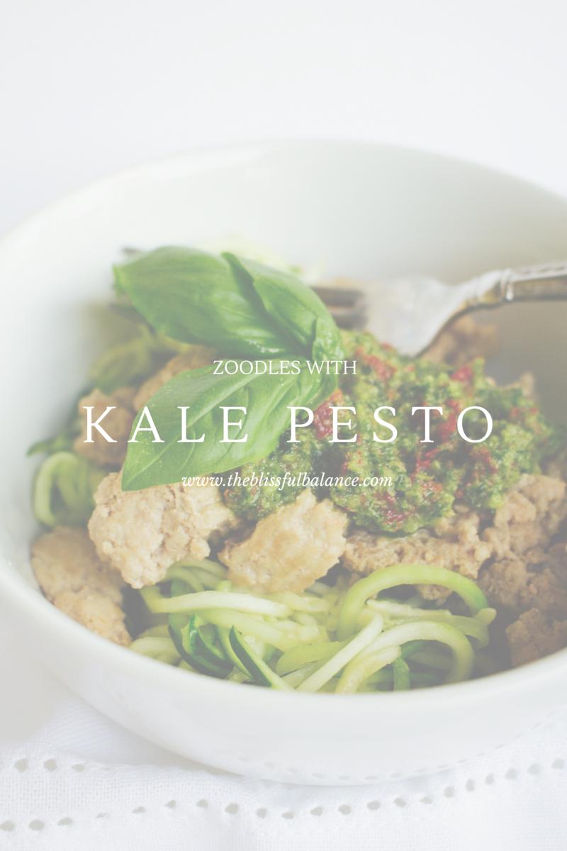 Kale Sun Dried Tomato Pesto Zoodles
