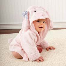 """""""Pretty in Pink"""" Poodle Hooded Spa Robe"""
