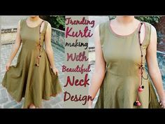 Trending Kurti Making With Designer Neck Simple Craft Ideas U