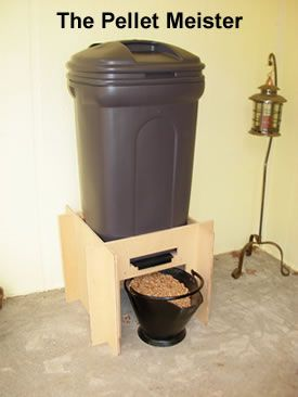 Pellet Dispenser Holds 200lbs Of Pellets Or Five 40 Lb Bags When The Dispenser Is Full Just Place You Pellet Stove Pellet Stove Inserts Pellet Stove Hearth