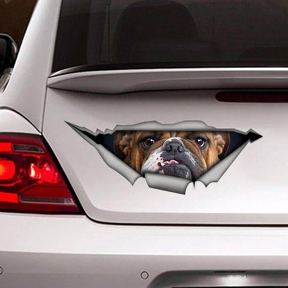 Bulldogge Aufkleber Auto Aufkleber Vinyl Aufkleber Pet