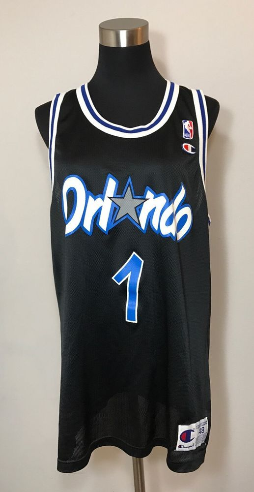 factory authentic 8932a c2585 Penny Hardaway Champion Mens Size 48 Jersey Orlando Magic #1 ...