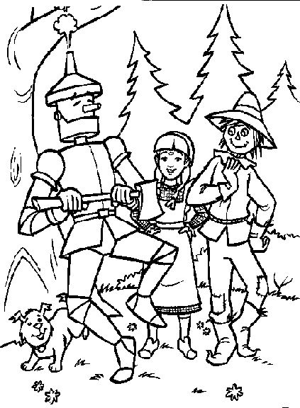Wizard of Oz Coloring Pages | Coloring Pages To Print | paper dolls ...