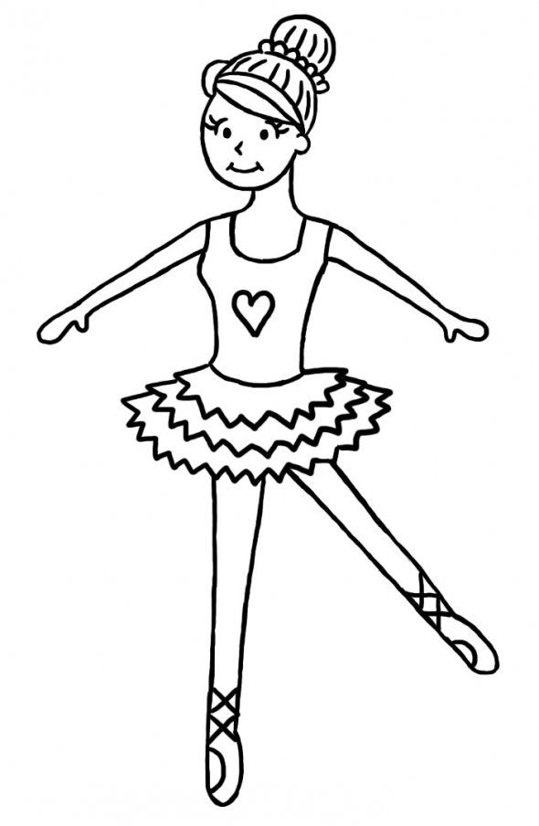 How To Draw A Ballerina Step By Step Tutorial For Children Cartoon Drawing For Kids Drawing For Kids Easy Drawings