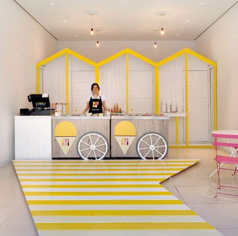 Creative Retail Space Interior Design Ideas Ideas Icecream Shop