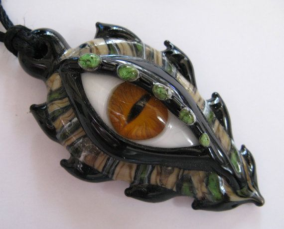 Glass Lampwork Dragon Eye Pendant by JeansBeads on Etsy, $75.00
