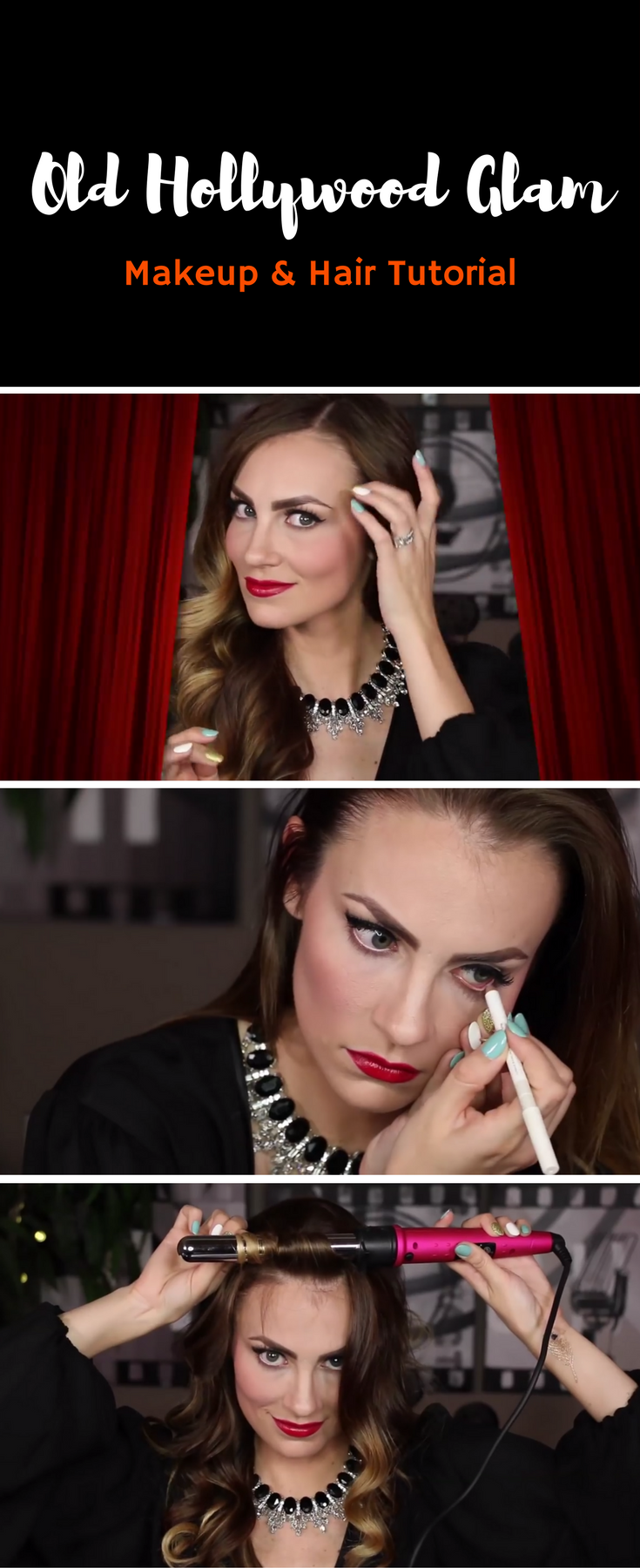VIDEO: Old Hollywood Glam | Hair and Makeup <3 | Old