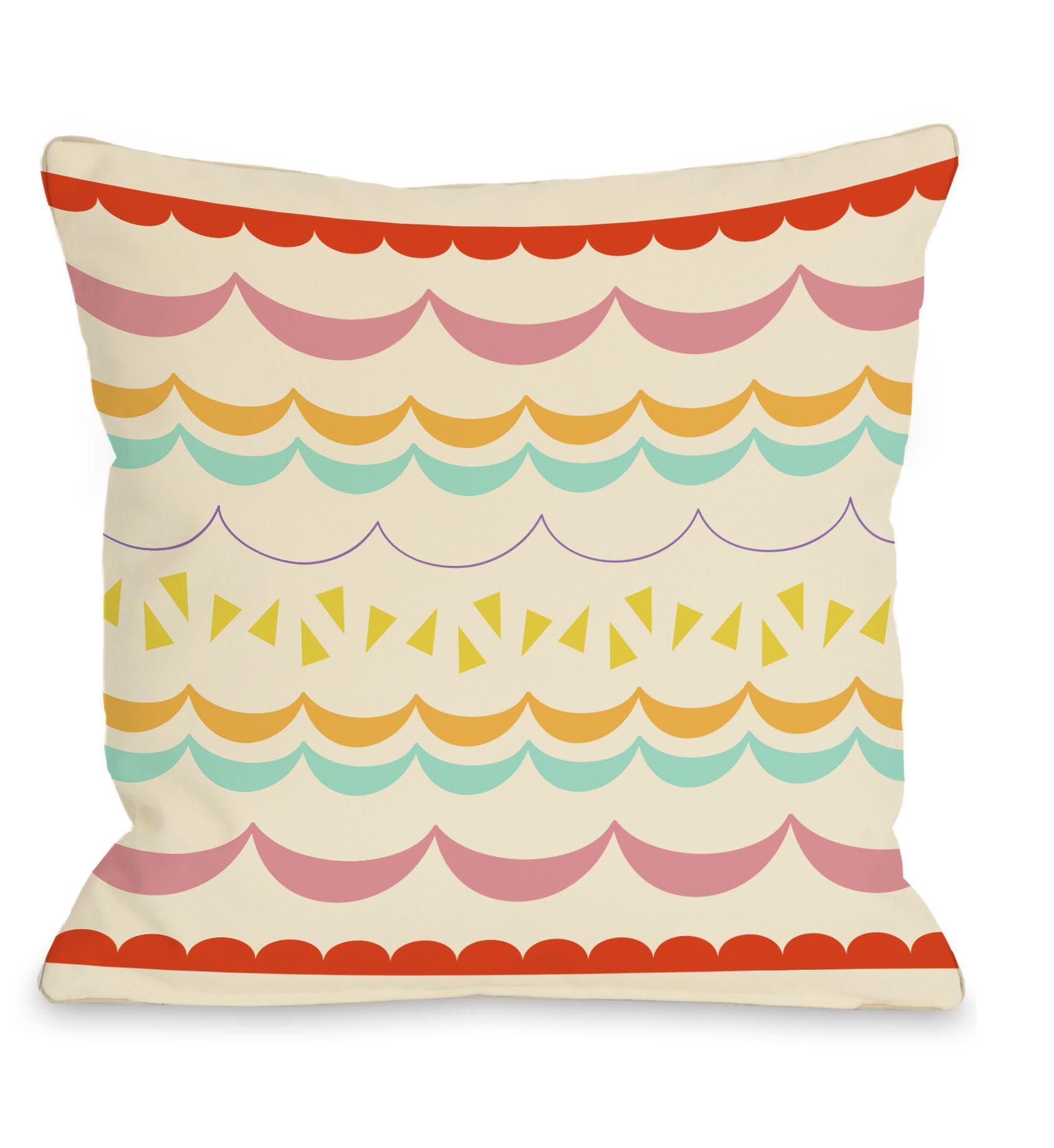 Lilly Scallops Throw Pillow