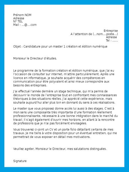 Lettre De Motivation 1000 Modeles Gratuits De Lettres Lettres De