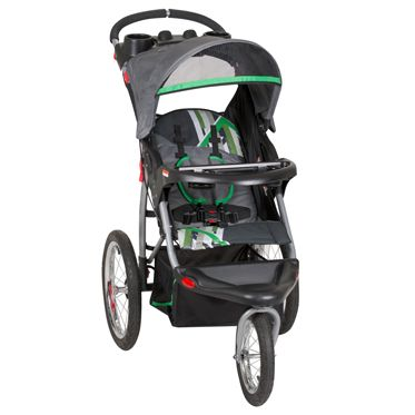 The Expedition Ex Jogging Stroller Features Build In Speaker In Parent Tray Large Bicycle Tires And A Swivel Jogging Stroller Baby Trend Expedition Baby Trend