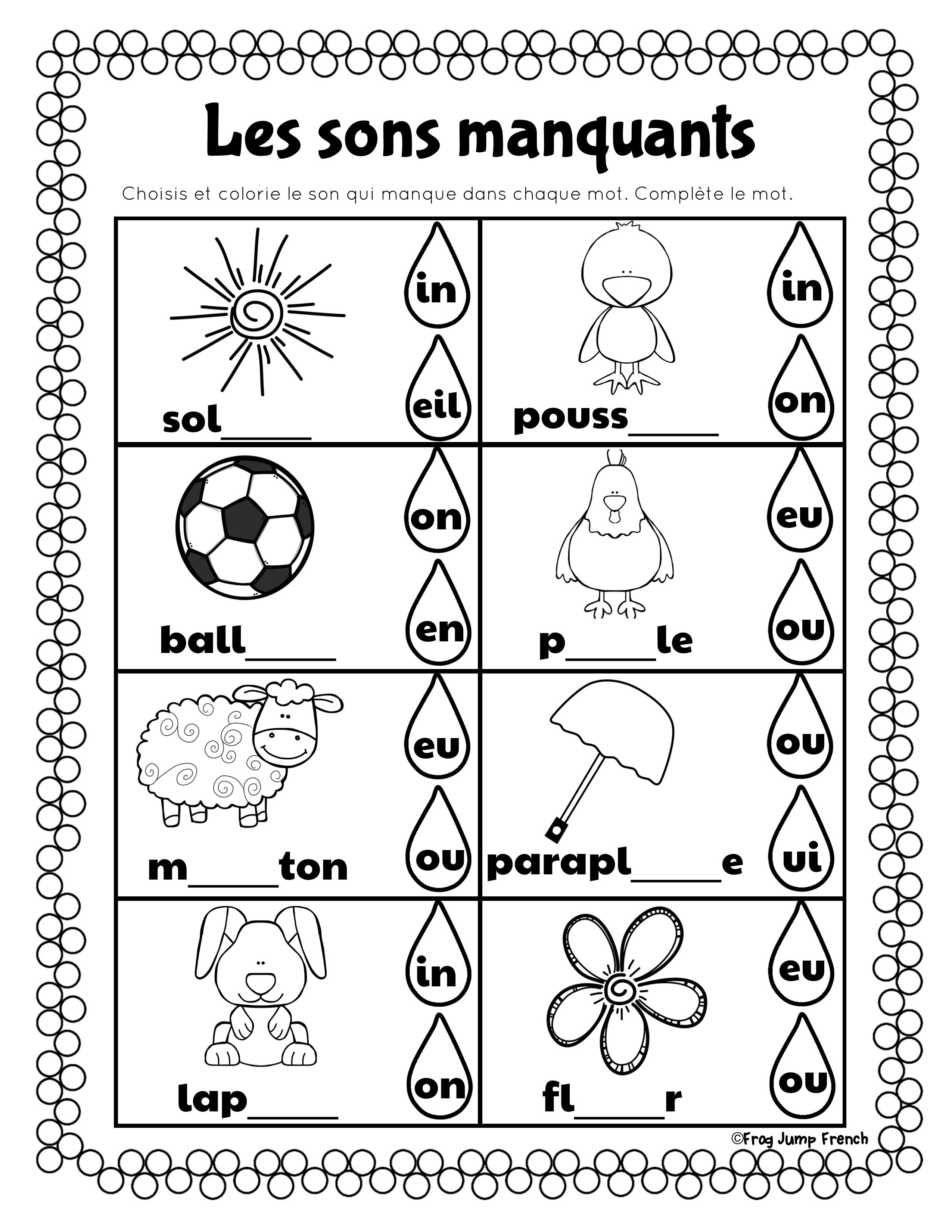 C Est Le Printemps French Spring Literacy And Math A Package Of 20 Math And Literacy Act French Immersion French Language Lessons French Teaching Resources