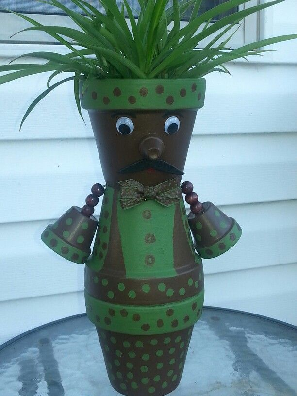 Terra cotra Man pot by Sandy